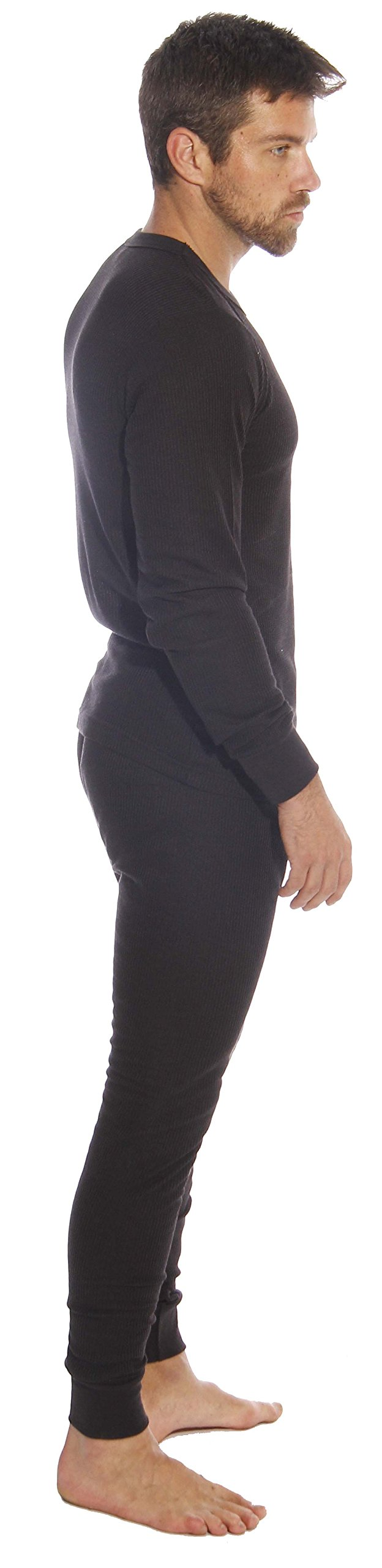 At The Buzzer Thermal Underwear Set For Men 95962-Black-XL by At The Buzzer (Image #2)