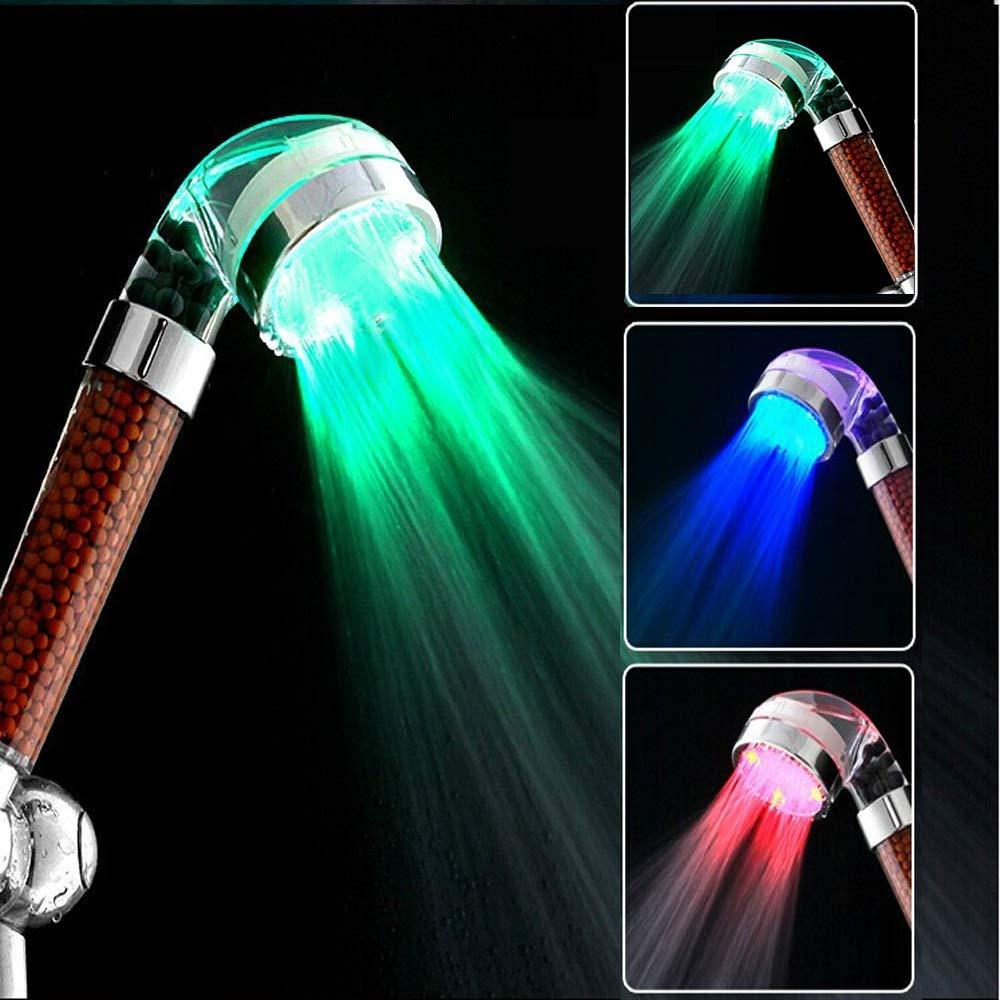 PvxgIo Pratique à utiliser Pommeau de douche rotatif en acier inoxydable avec tête de douche (Couleur : 0)