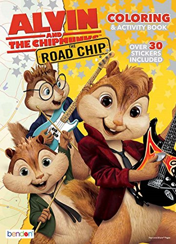 Alvin and the Chipmunks The Road Chip Coloring and Activity Book - Over 30 Stickers Included