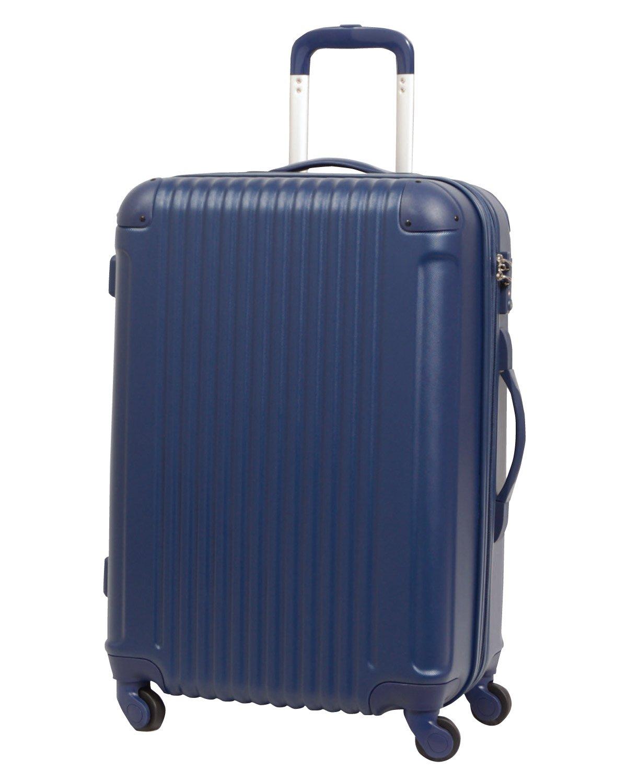 [グリフィンランド]_Griffinland TSAロック搭載 スーツケース キャリーバッグ かわいい エンボス加工 超軽量 newFK1212-1 ファスナー開閉式 S型国内国際線機内持込可 15色3サイズ B01GP2YONA セット(M+S)|ダークネイビー ダークネイビー セット(M+S)