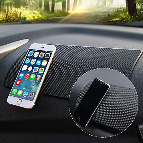 Car Dashboard Anti-Slip Mat, DaKuan 4 Packs 10.5'' x 5.7'' and 8'' x 5.1'' Sticky Non-Slip Dashboard Gel Latex Pad for Cell Phone, Sunglasses, Keys, Coins by DaKuan (Image #2)