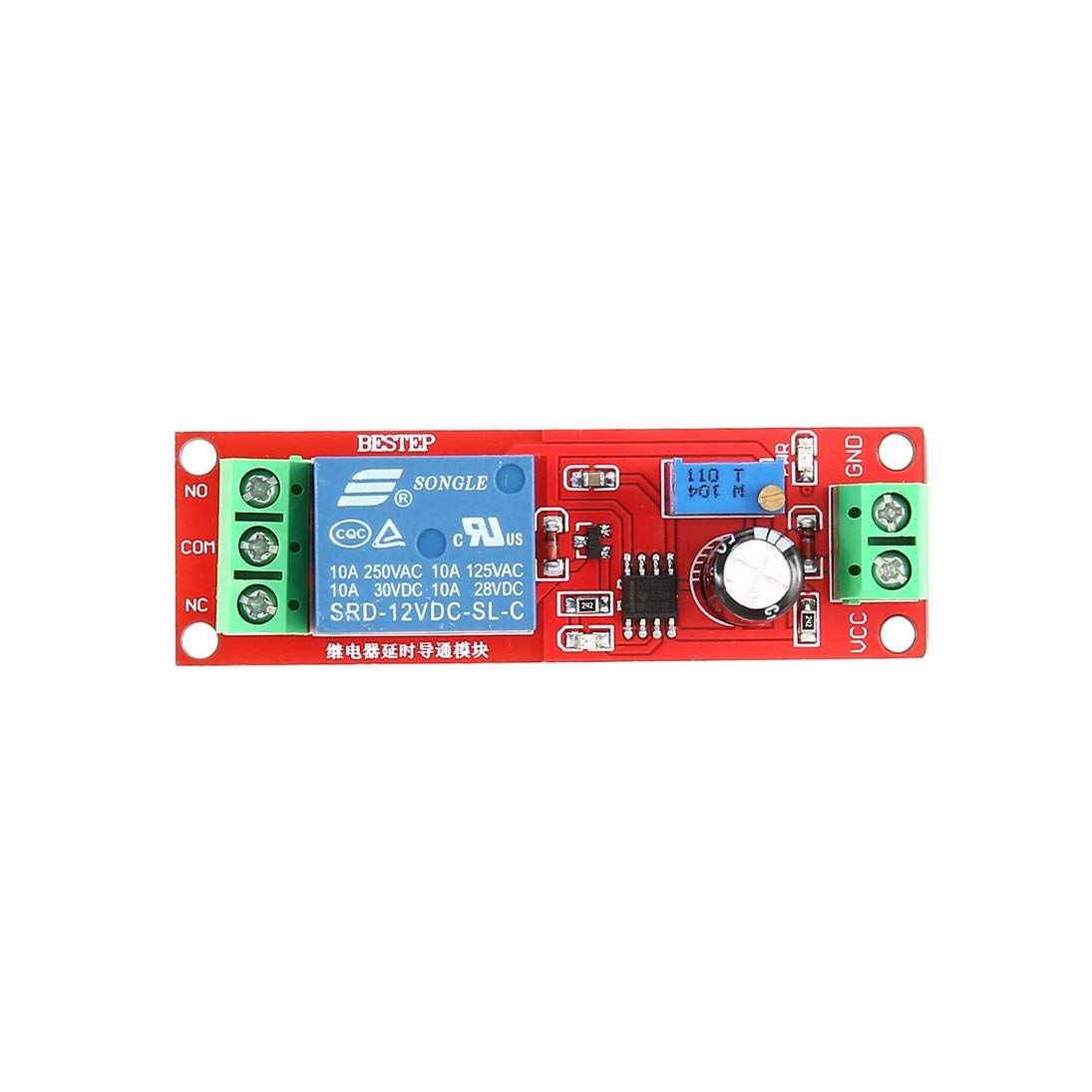 Baynne DC 12V NE555 Monostable Delay Relay Circuit Conduction Module Trigger Switch Timer Adjustable Time Shield Electronics Arduino by Baynne (Image #5)