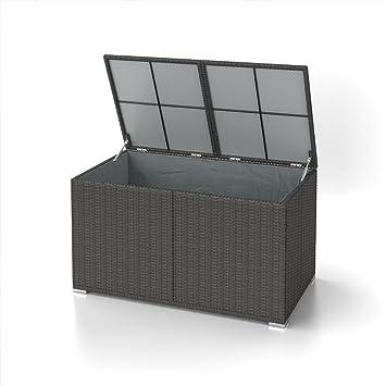 Xxl Kissenbox Wasserdicht Polyrattan 950l Anthrazit Auflagenbox