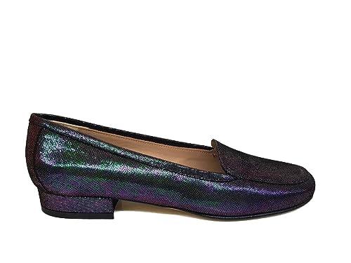 Gennia MAGIA - Mocasines de piel para mujer con punta cerrada redonda y tacón 2 cm: Amazon.es: Zapatos y complementos