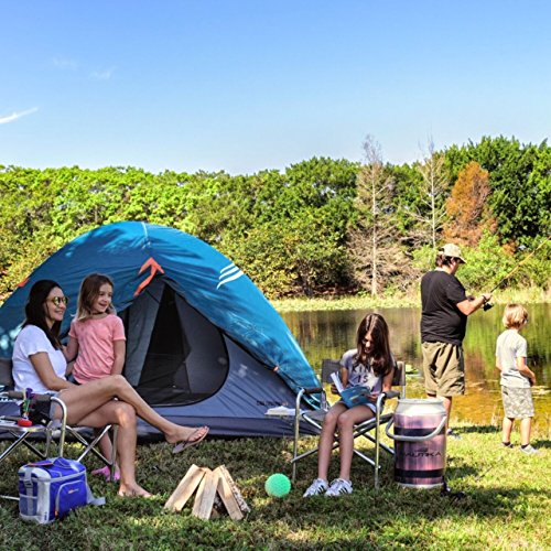 NTK Colorado GT 8 to 9 Person 10 by 12 Foot Outdoor Dome Family Camping Tent 100% Waterproof 2500mm, Easy Assembly, Durable Fabric Full Coverage Rainfly – Micro Mosquito Mesh