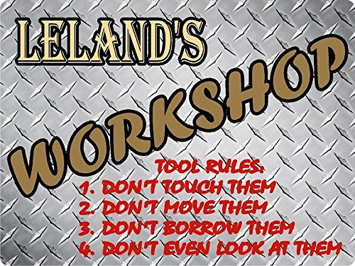 Leland Diamond (LELAND Workshop tool rules diamond tread effect design décor sign 9