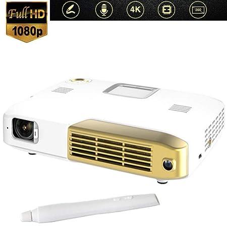 Mengen88 Proyector HD 4K, 2500 lúmenes LED 350
