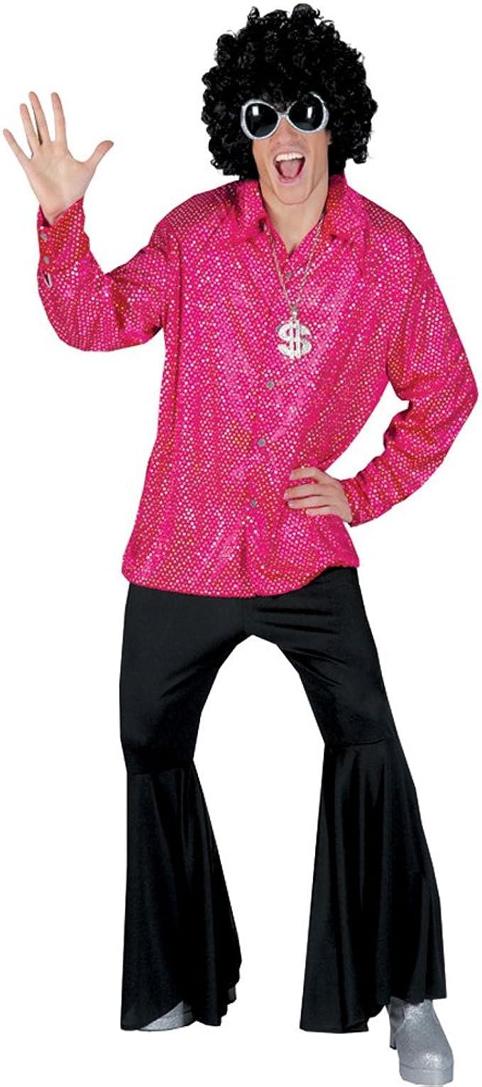 Men/'s 70s Groovy Dancing Dude Floral Disco Shirt Costume