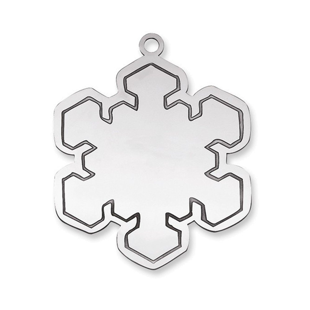 Jewelry Adviser Sterling Silver Blank Christmas Snowflake Ornament