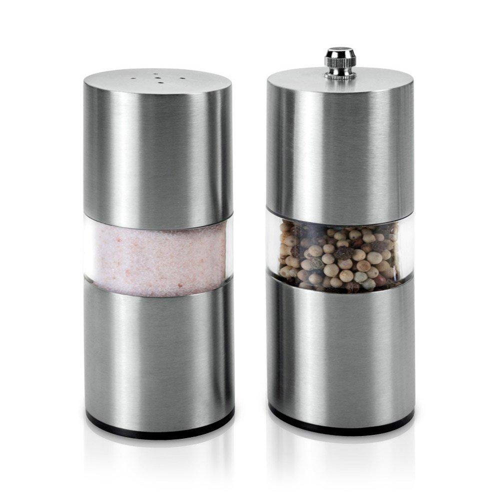 Metaltex - Set di macina sale e pepe, in acciaio INOX 252830