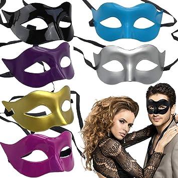 BESTZY 6PCS Disfraz Mascarada Máscara Veneciana Fiesta Máscara ...