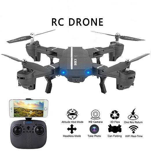 Wapipey 2.4 GHz 2.0 MP Amplio ángulo Selfie Drones Plegable Motor ...
