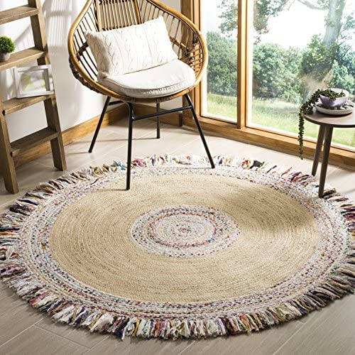 Safavieh Cape Cod Collection CAP205B Hand-woven Jute Cotton Area Rug