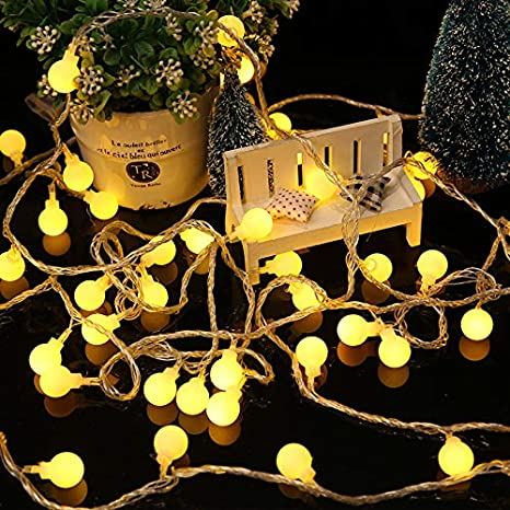 100 LED 33 ft Plug-in Fairy String Lights Warm White 8 Modes Indoor Outdoor Use