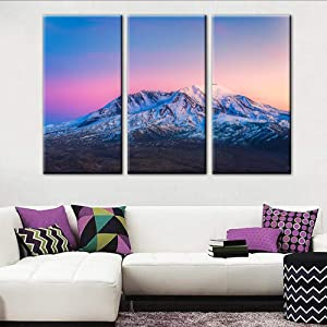 Art Work for Home Walls Mount St. Helens With Snow National Volcanic Monument,Washington Paintings Landscape Pictures Canvas Wall Art Artwork Home Decor for Living Room Framed Ready to Hang(40''x60'')