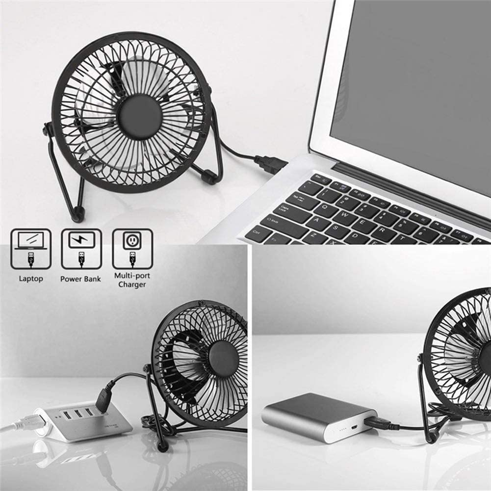 ZYZYZ Solar Powered Panel Iron Fan 2.5W 5V for Home Office Outdoor Traveling Fishing 4 Inch Cooling Ventilation Fan USB New