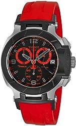 Tissot Mens Watch T048.417.27.057.02 T-race Black Chronograph Dial