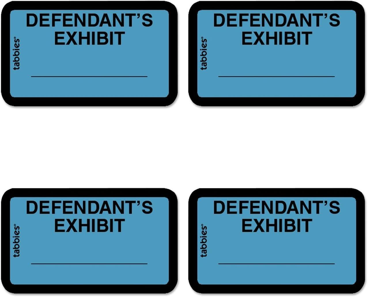 TAB58093 Tabbies Defendants Exhibit Legal File Labels