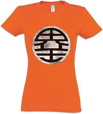 Urban Backwoods Orange Goku Vintage Camiseta de Mujer Women T ...