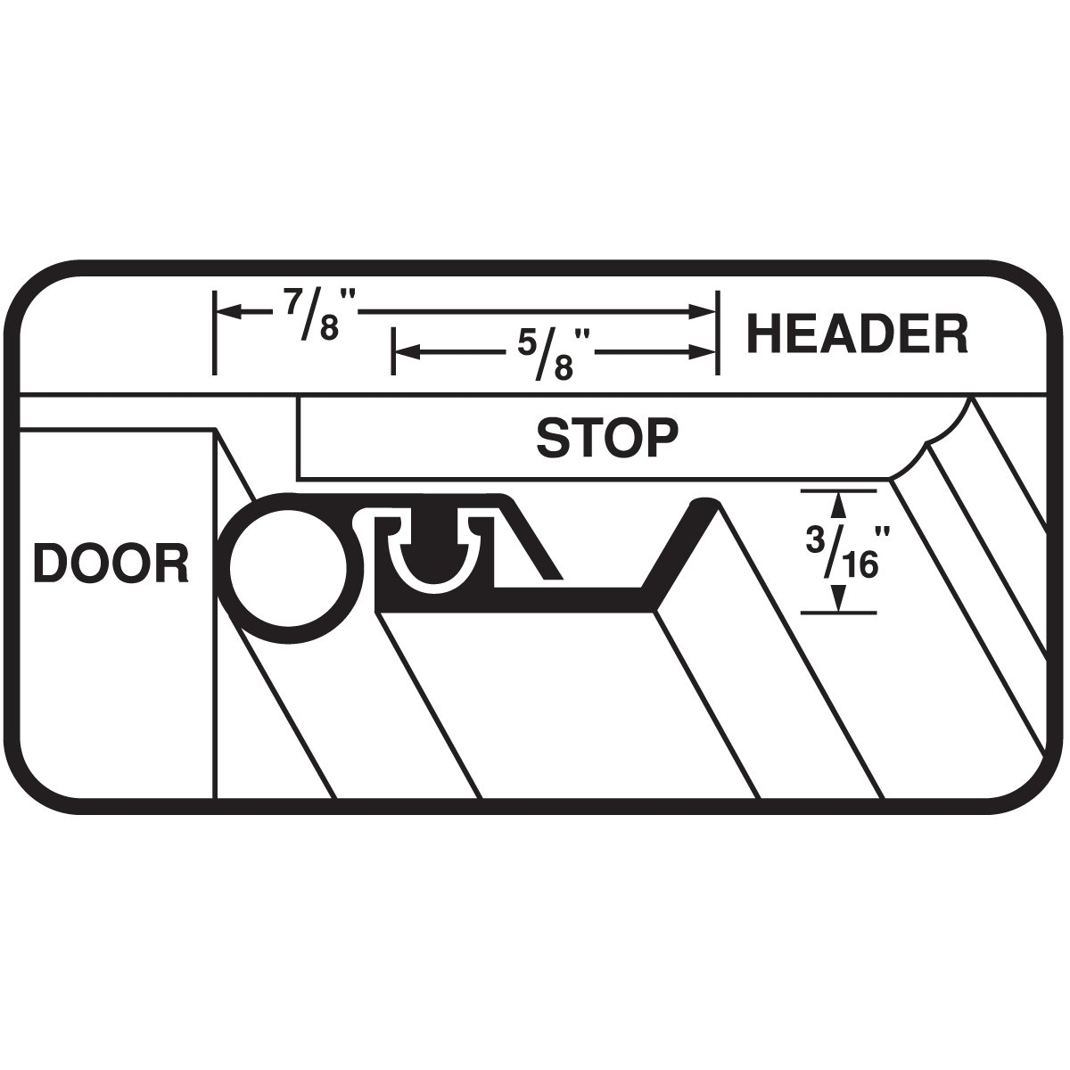 M-D Building Products 01750 36-Inch by 84-Inch Extreme Temperature Door Jamb Weather-strip Kit with Screws