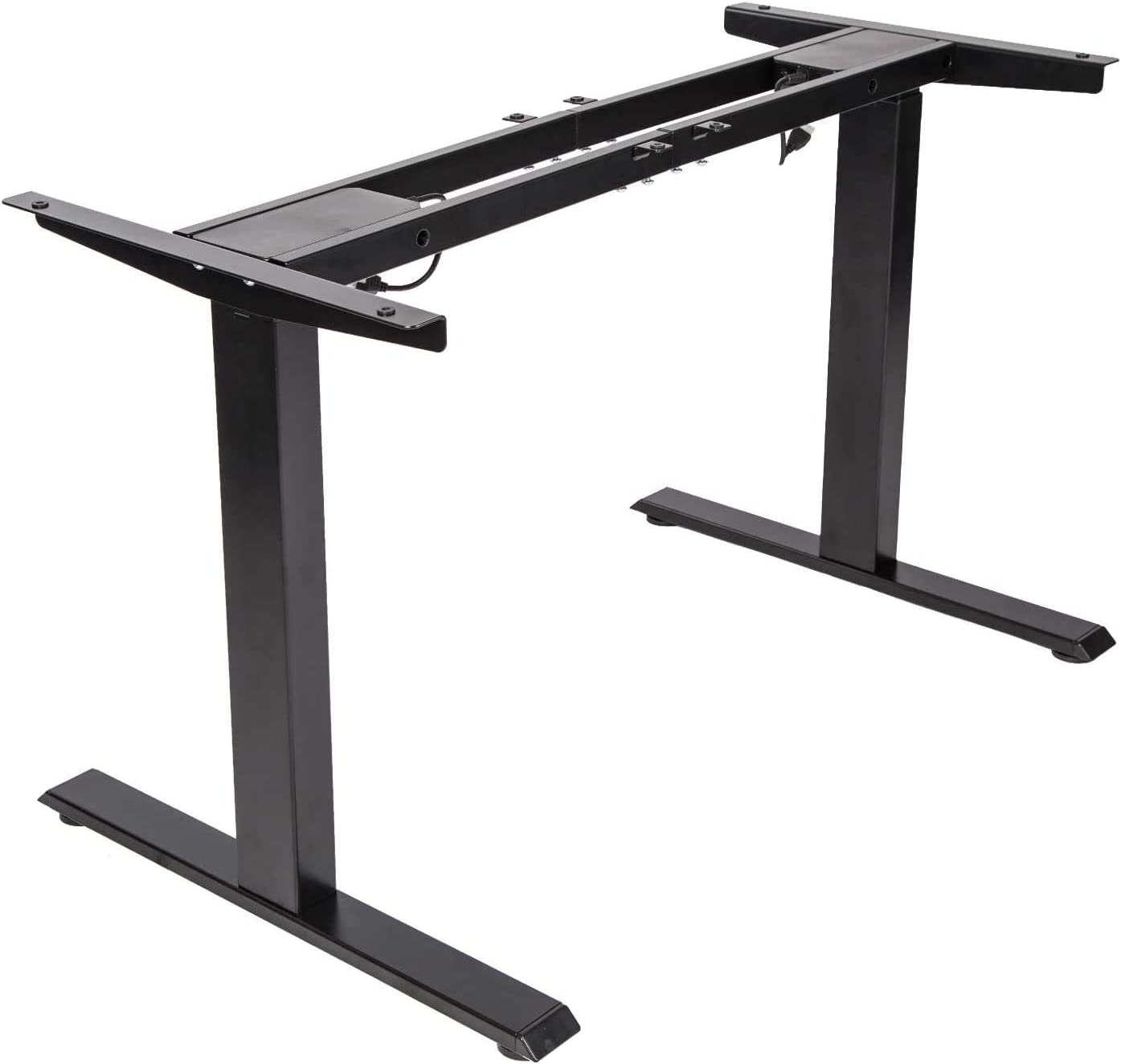 TOPSKY Dual Motor Electric Adjustable Standing Computer Desk for Home and Office (Black Frame only)