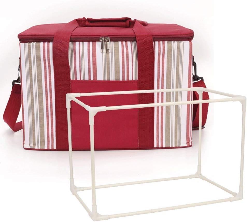 Cesta de picnic se puede plegar pila al aire libre de la bolsa nevera de picnic, la bolsa se enfrió de aluminio de cerveza asa plegable que sostiene el cartucho 2 de la familia de la parrilla de picni