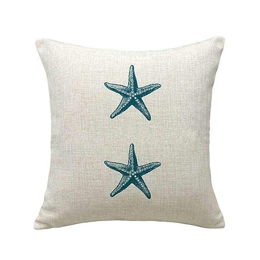 Funda de cojín para sofá con diseño de estrella de mar con ...