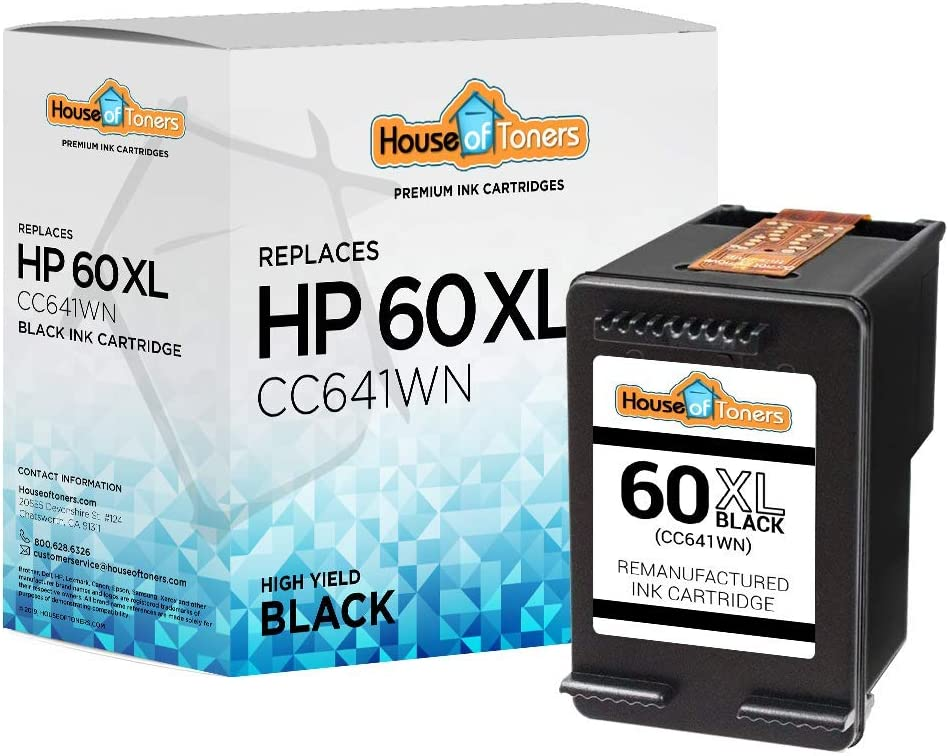 HouseOfToners Remanufactured Ink Cartridge Replacement for HP 60XL CC641WN 1 Black