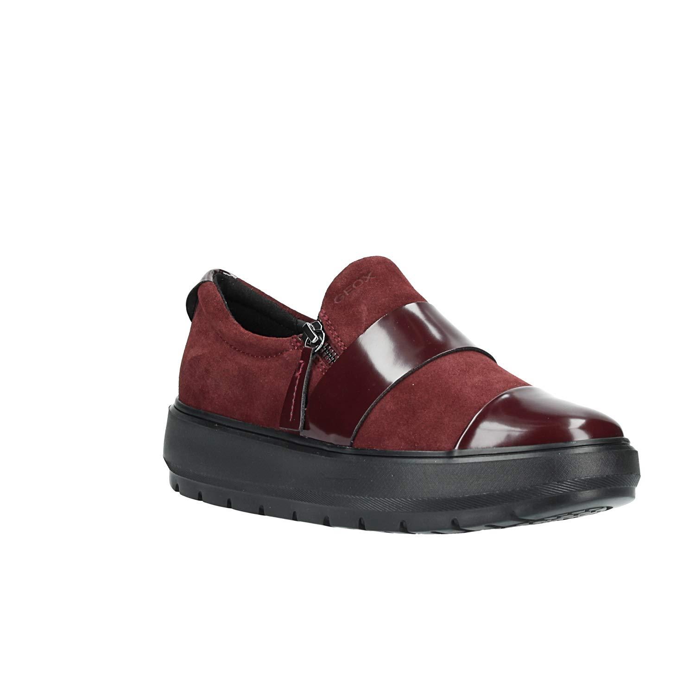 Geox D Kaula F, Zapatillas sin Cordones para Mujer 41 EU|Rojo (Dk Burgundy C7357)