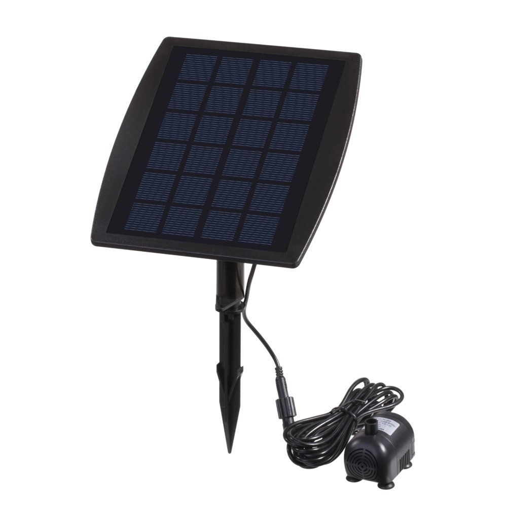 Anself Solar Power Panel Landscape Pool Garden Fountains Pluggable Solar Power Decorative Fountain 9V 2.5W Water Pump