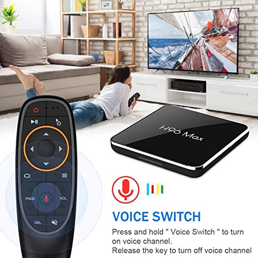 YPSMLYY H96MAX X2 Android 9.0 TV Box H96 MAX 4GB 64GB 4G Android Box con Control