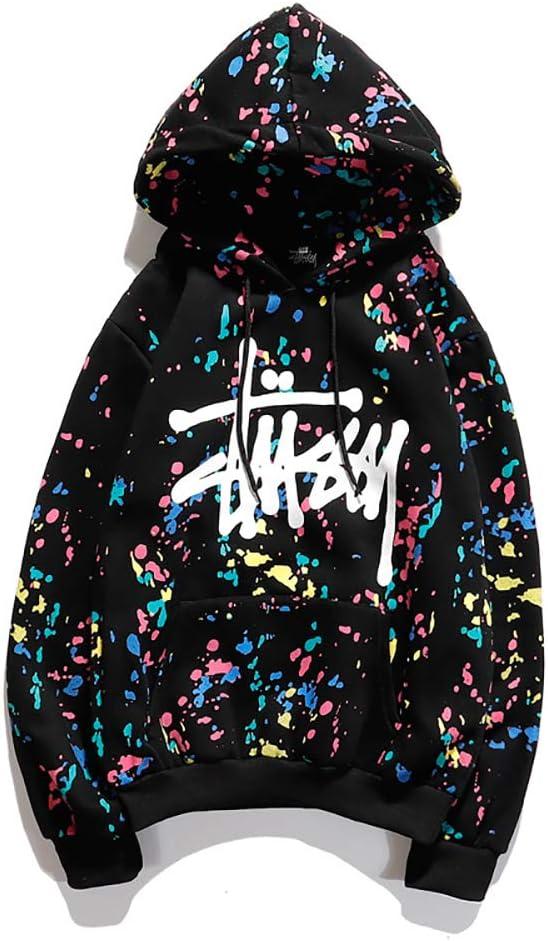 Camicia Bianca Baseball Kangaroo Pocket,Bianca,M BLJS Boy Girl Hoodie Stuss-y Moda Hip Hop Felpe Casual Pullover