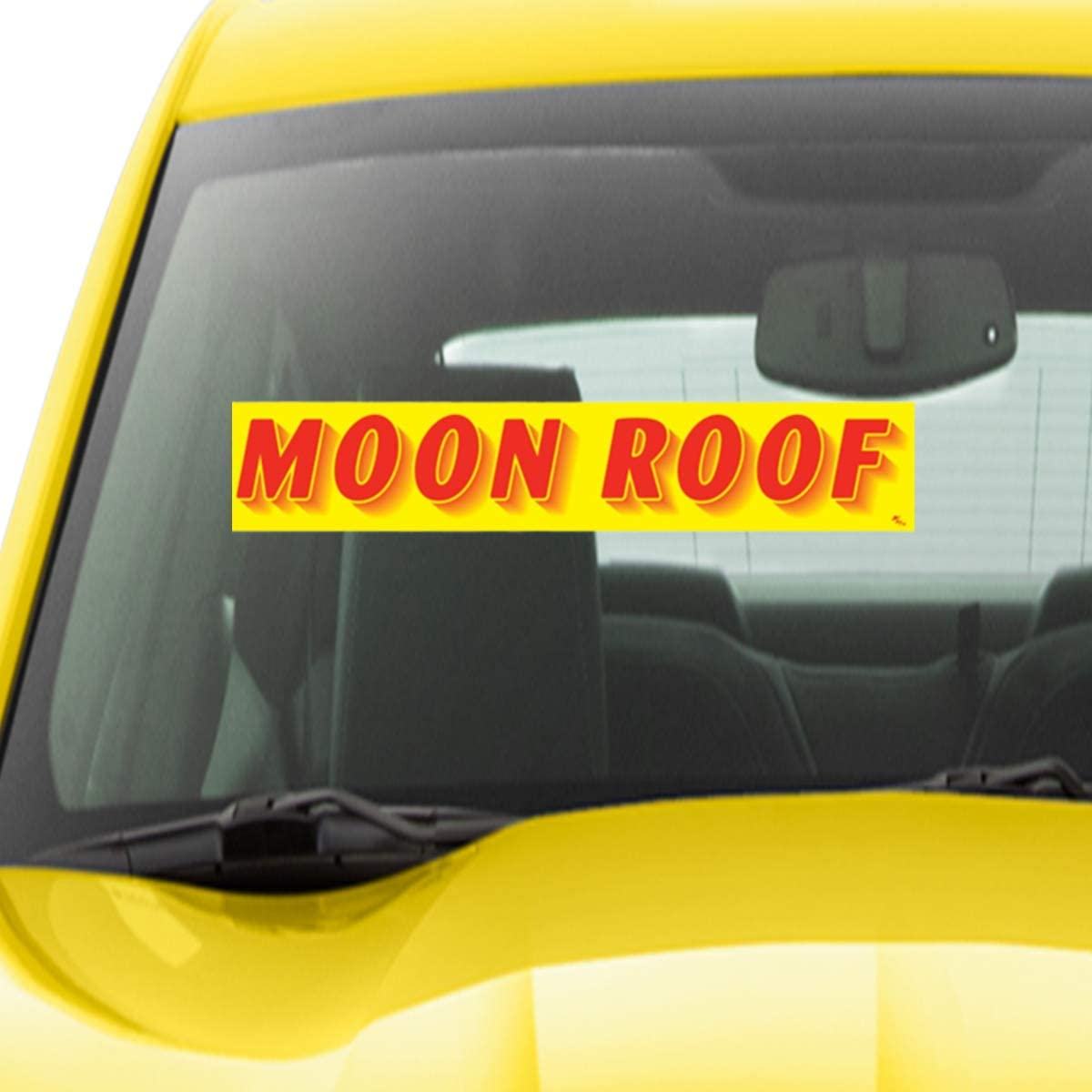Cash VERSA-TAGS 14.5 Inch Red /& Yellow Adhesive Windshield Slogan Car Dealer Sticker