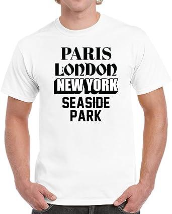 d37e4ec6 Amazon.com: Seaside Park Paris London Custom World City Vacation Travelling  Unisex T-shirt: Clothing