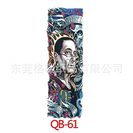 tzxdbh 3Pc-European Armor Tattoo Sticker Tattoo Big Flower Arm QB ...