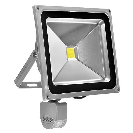 topnew 50 W LED Foco SMD Foco exterior con detector de movimiento PIR Foco resistente al