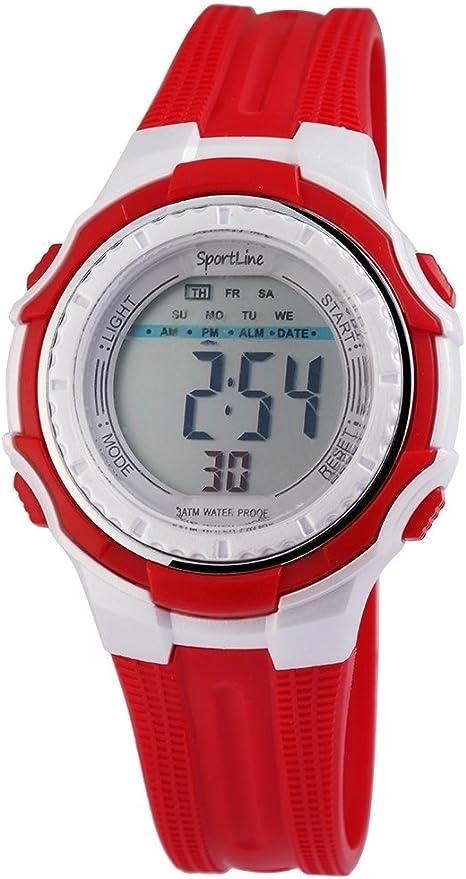Sport Line digiale Reloj Infantil con luz, función de Alarma y Parada y un Cuarzo de Calidad.–10000280004