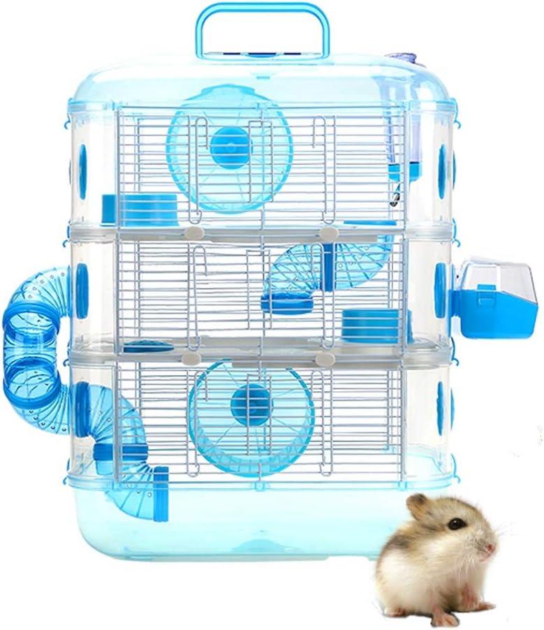 CLL-csw Little Friends - Jaula for Ratas y hámsters Grosvenor con repisa y Escalera de Madera, Jaula de hámster Grande, Tres Pisos, con Tubos (Size : Three Floors: 53 * 42 * 28cm): Amazon.es: Hogar