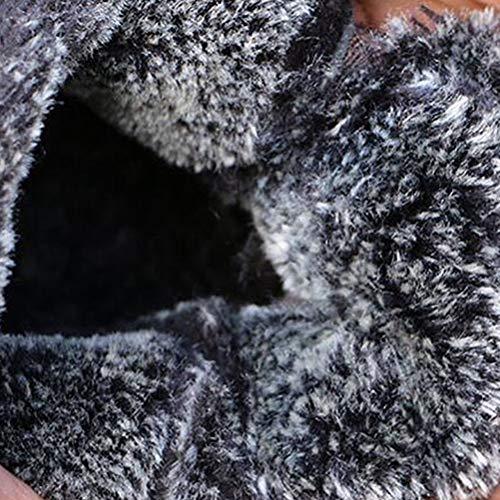 a Addensare Neve Scarpe da Uomo Nero di Retro Fatto Impermeabile Cotone Neve Stivali Hzjundasi Antiscivolo da Uomini Mano Stivaletti Appartamenti OnqwpOSx
