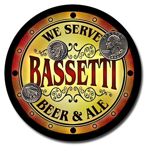 Price comparison product image Bassetti Family Name Beer and Ale Rubber Drink Coasters - Set of 4
