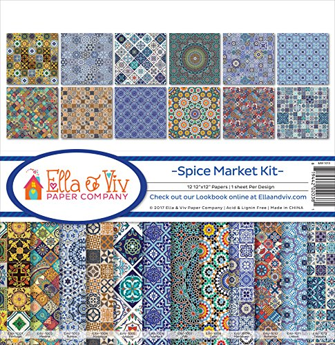 Ella & Viv by Reminisce Spice Market Scrapbook Collection Kit]()