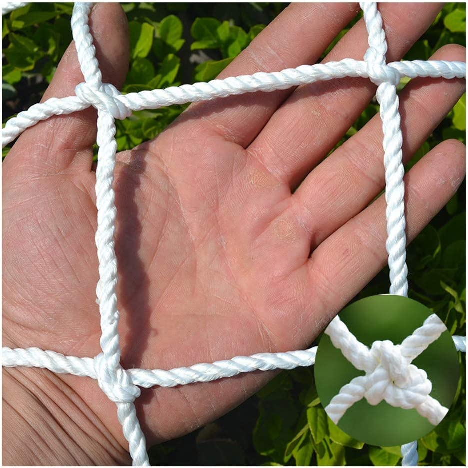 Protection Netting Outdoor Safety Netting, White Polyester Rope Net, Decoration Netting, Truck Cargo Net, Playground Net, Protection Fence Netting Net for Plants Garden and Patios, Stair Railing Net F