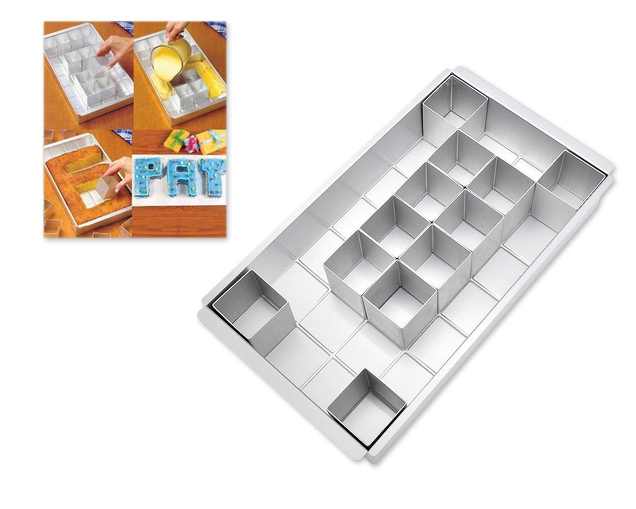 ds. distinctive style DSstyles Aluminium Alphabete Buchstaben Zahlen Kuchen Form Kuchen Pan Backen Pan