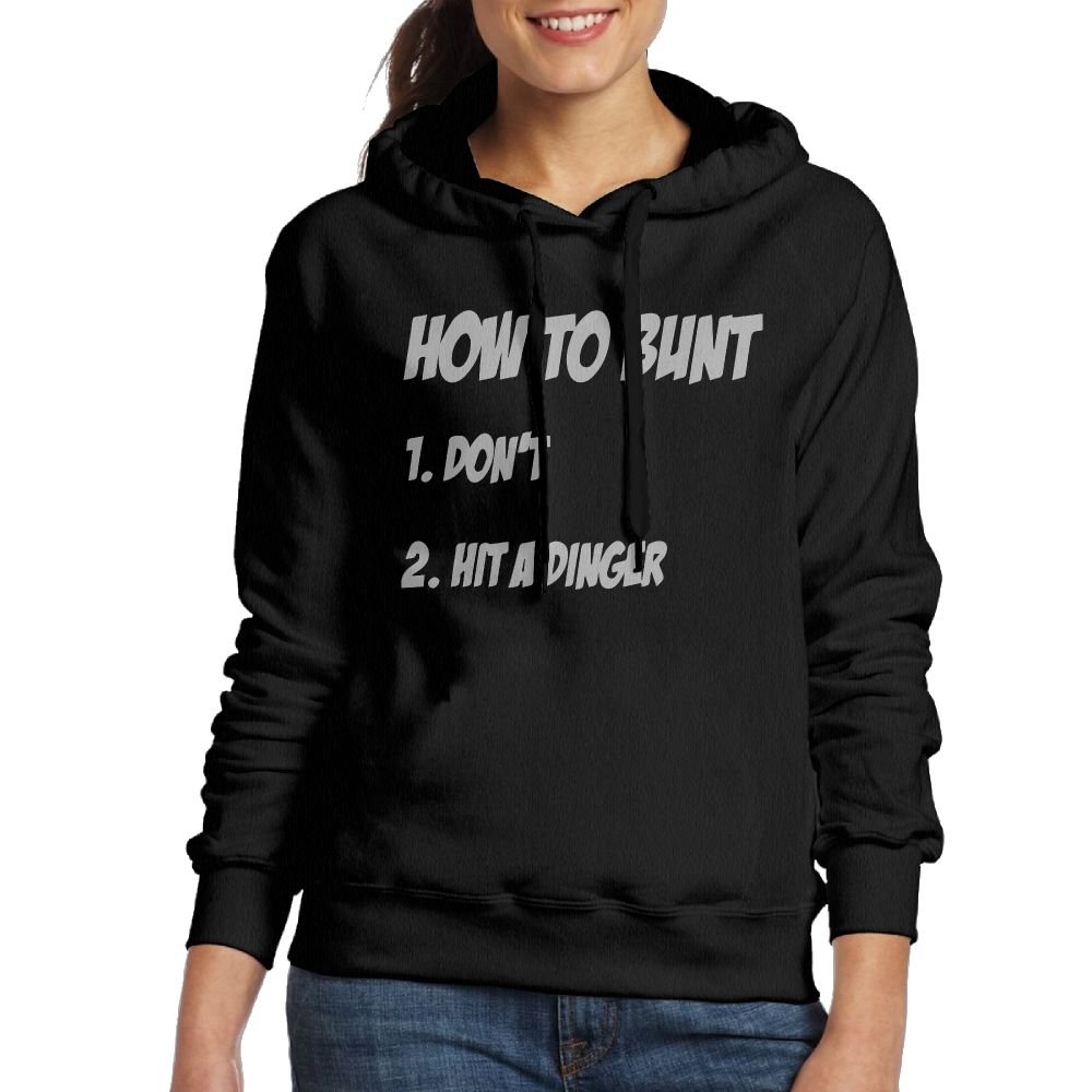 Wxf Women How To Bunt Funny Baseball Fastpitch Softball Fashion Sports Black Fleece