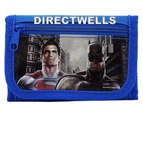 Batman vs Superman Dawn Justice Authentic Licensed Trifold Wallet (BLue)
