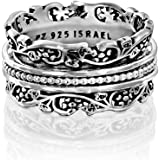 Paz Creations .925 Sterling Silver Spinners Silver Spinners, Made in Israel