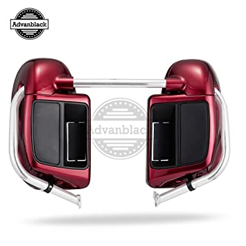 Amazon.com: Lower Vented Leg Fairing Kits Velocity Red Sunglo Glove Box for Harley Davidson Touring Street Glide Road King 2016 2017 2018: Automotive