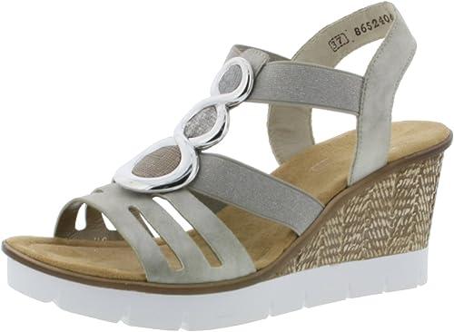 Rieker Women's Closed Toe Sandals, Grey