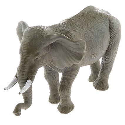 Juguetes de Peluches Modela de la Figura de Animal Vivid Mini Elefante Plástico