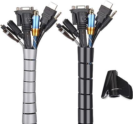 Organizador Cables, Cubre Cables de 2 x 1.5m, Flexible Funda ...